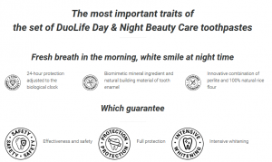 Toothpaste set DuoLife Day & Night Beauty Care (2x50ml)