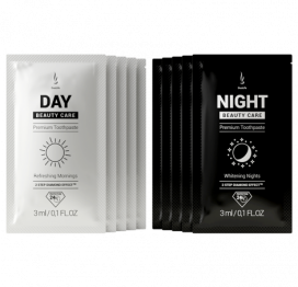 Sample Toothpaste set DuoLife Day & Night Beauty Care (5x3ml Day & 5x3ml Night)